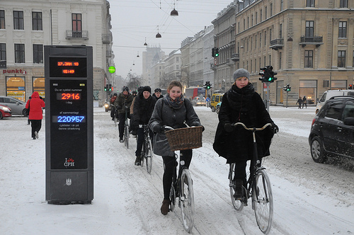 Cycling in the Winter is quite common in Denmark