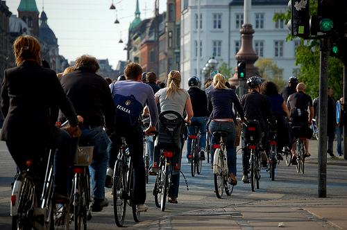 Cyclists in Copenhagen