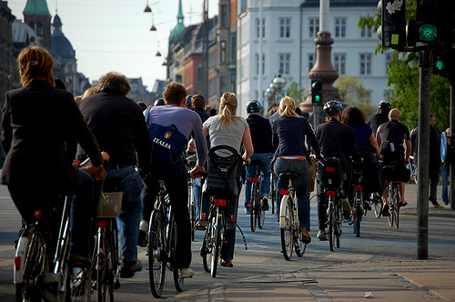 Cyclists in Copenhagen