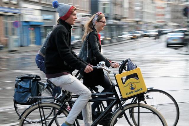 cycling sidebyside